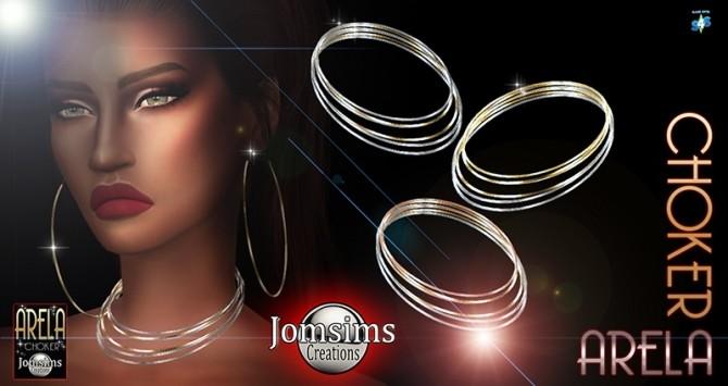 Sims 4 Arela Choker at Jomsims Creations