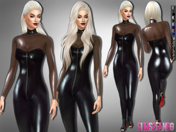 257 Desislava Latex Catsuit By Sims2fanbg At Tsr 187 Sims 4