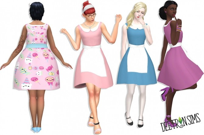 Alice Dress at Deetron Sims image 9912 670x444 Sims 4 Updates