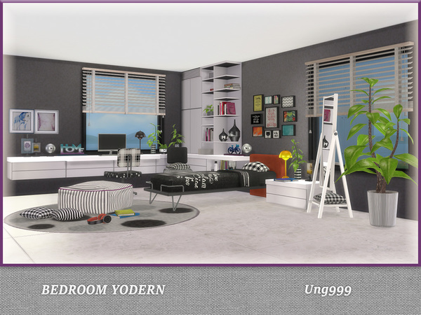 Bedroom Yodern by ung999 at TSR image 1019 Sims 4 Updates