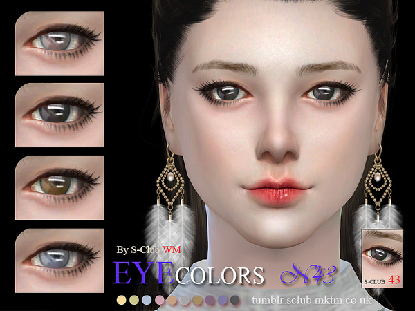 Eyecolor 43 by S Club WM at TSR image 1020 Sims 4 Updates