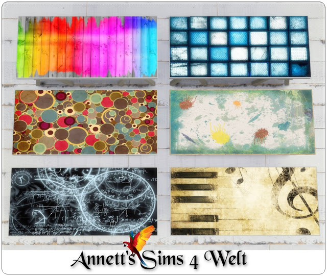 Sims 4 TS3 to TS4 Dining/Office Set Painting at Annett's Sims 4 Welt