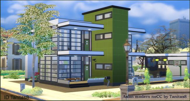 Asian modern house noCC at Tanitas8 Sims image 1024 Sims 4 Updates