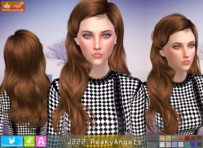 Sims 4 J222 PeakyAngels hair (Pay) at Newsea Sims 4