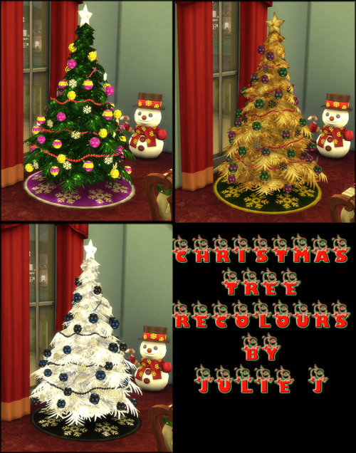 Sims 4 Christmas Tree Recolours at Julietoon – Julie J