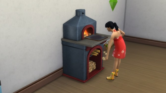 Sims 4 Montevista wood fire oven S3 conversion with animated fire by necrodog at Mod The Sims