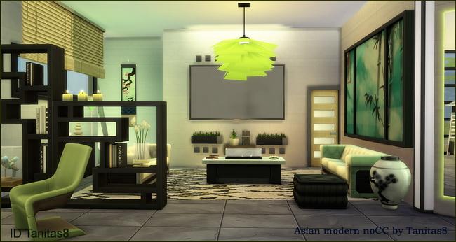 Asian modern house noCC at Tanitas8 Sims image 1044 Sims 4 Updates