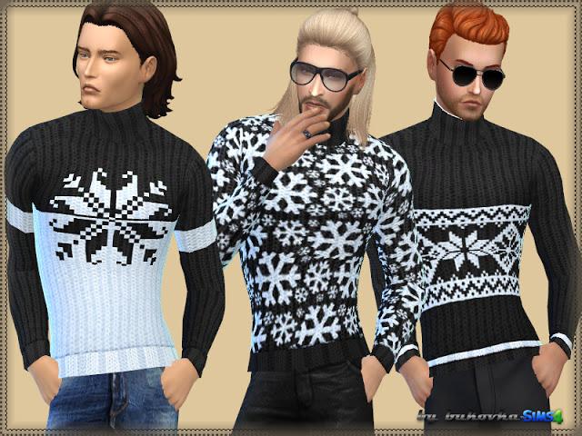 Sims 4 Snowflake Sweater at Bukovka