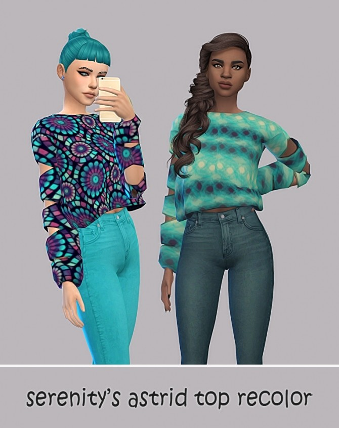 Sims 4 Astrid Top Recolors by maimouth at SimsWorkshop