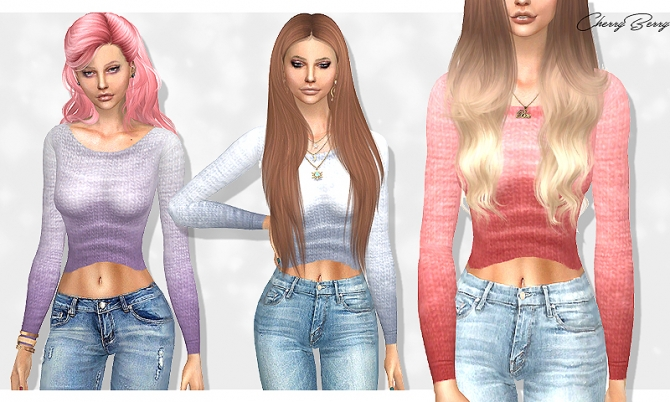 Winter Cropped Sweater At Cherryberry 187 Sims 4 Updates