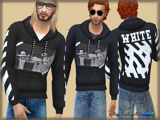 Sims 4 Sweatshirt White 13 at Bukovka