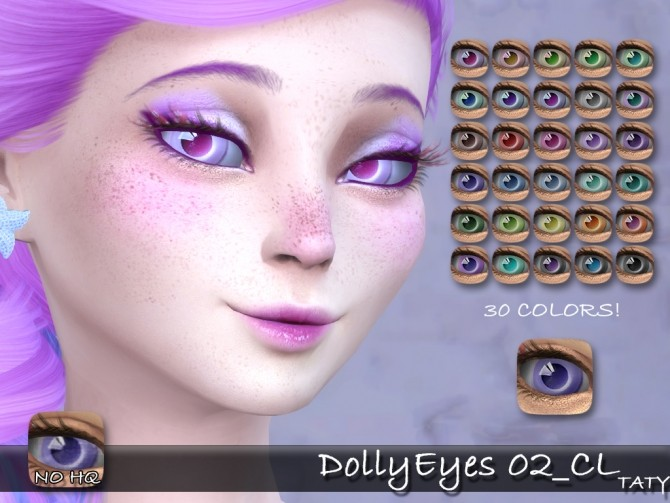 Sims 4 Dolly Eyes 02 CL by Taty86 at TSR