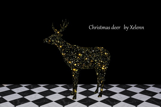 Sims 4 Christmas Deer at Xelenn