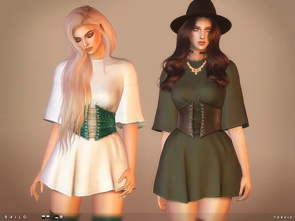 Sims 4 Bailo Dress by toksik at TSR