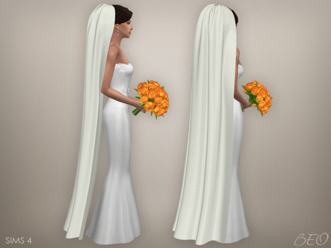 Wedding Veil 05 At Beo Creations 187 Sims 4 Updates