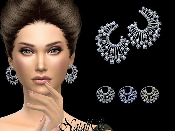 Winter crystals earrings by NataliS at TSR image 11091 Sims 4 Updates