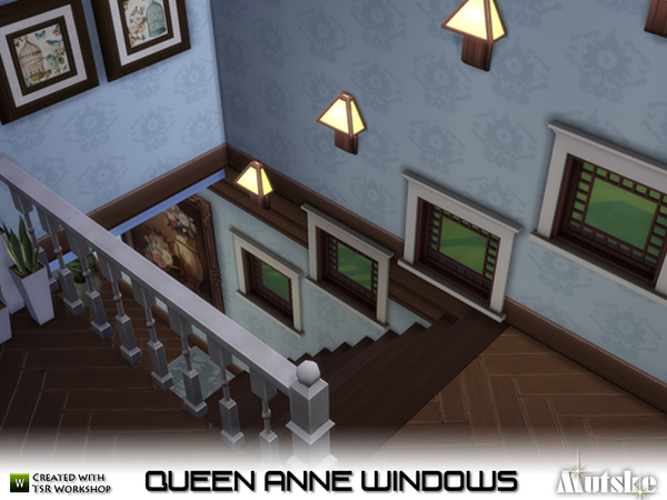Queen anne windows by mutske at tsr sims 4 updates for Queen anne windows
