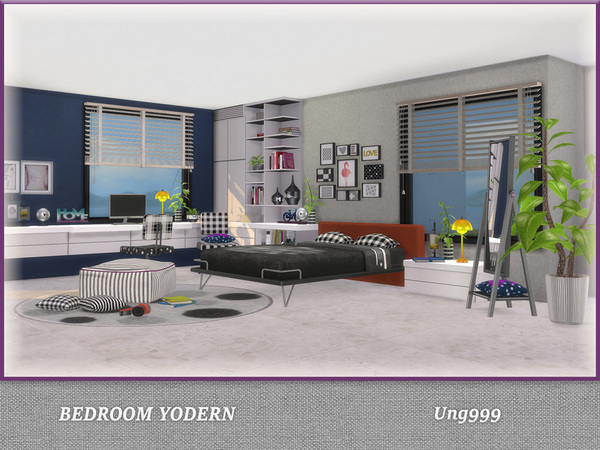 Bedroom Yodern by ung999 at TSR image 1117 Sims 4 Updates