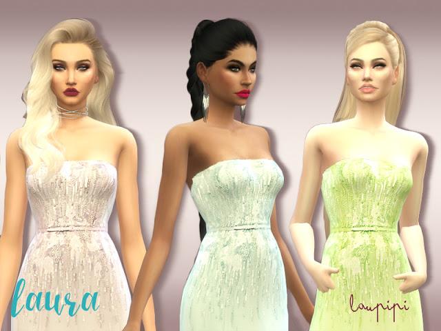 Sims 4 Laura embellished dress at Laupipi