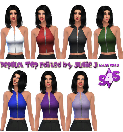 Sims 4 Peplum Top Edited at Julietoon – Julie J