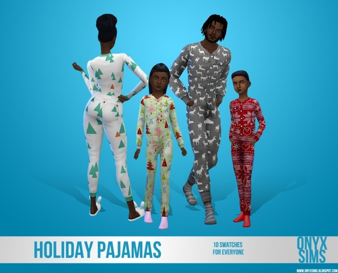 Holiday Pajamas for All at Onyx Sims image 11510 670x541 Sims 4 Updates