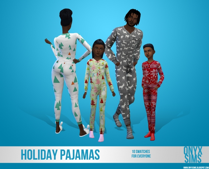 Holiday Pajamas For All At Onyx Sims 187 Sims 4 Updates