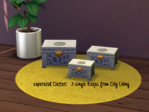 Sims 4 Separated CL clutter 3 Boxes at ChiLLis Sims