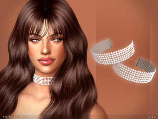 Double Luxe Choker by toksik at TSR image 1160 Sims 4 Updates