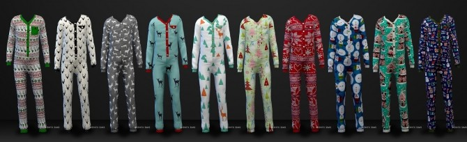 Holiday Pajamas for All at Onyx Sims image 11610 670x204 Sims 4 Updates