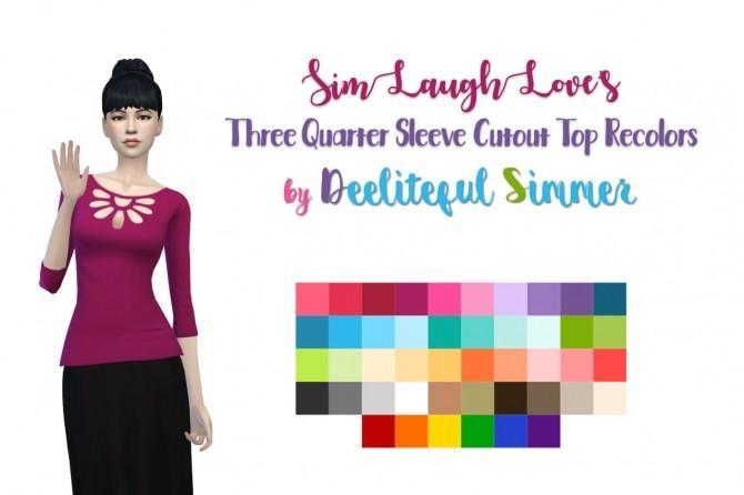 Sims 4 Simlaughlove's top recolors at Deeliteful Simmer