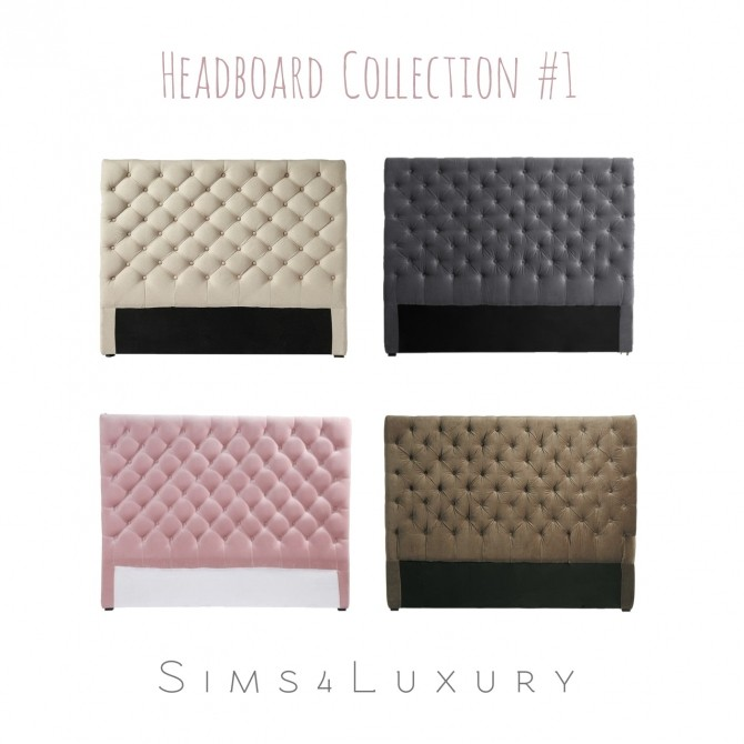 Sims 4 Headboard Collection #1 at Sims4 Luxury
