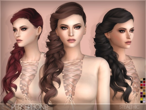 Persephone Female Hair by Stealthic at TSR image 1180 Sims 4 Updates