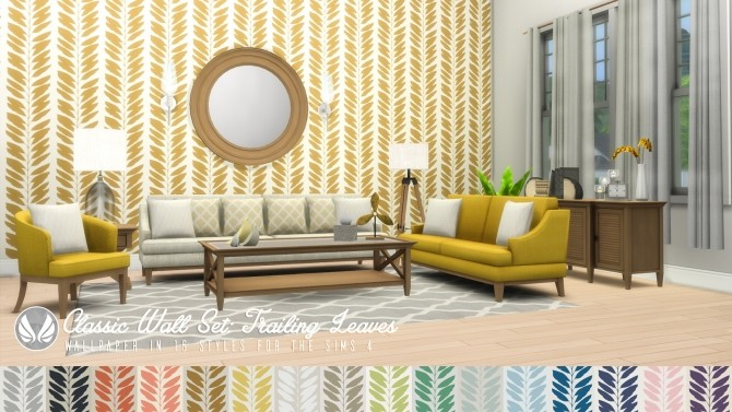 Classic Wall Set Wallpaper dump 01 at Simsational Designs image 1197 670x377 Sims 4 Updates