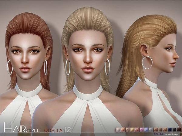 Sims 4 Quella n12 hair by sclub at TSR