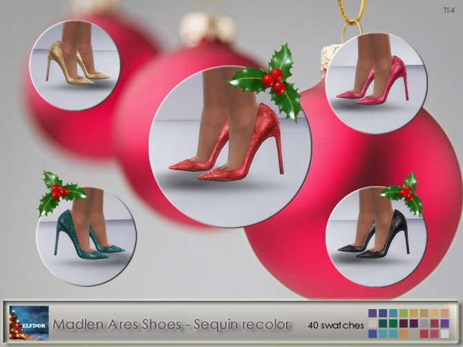 Madlen Ares Shoes Sequin Recolor at Elfdor Sims image 1206 670x503 Sims 4 Updates