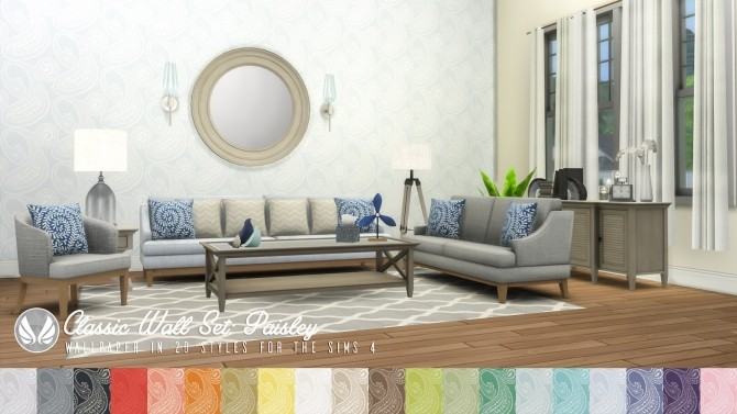 Classic Wall Set Wallpaper dump 01 at Simsational Designs image 1207 670x377 Sims 4 Updates