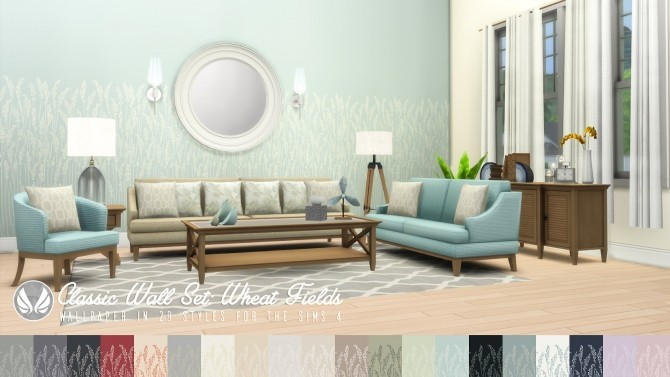 Classic Wall Set Wallpaper dump 01 at Simsational Designs image 12111 670x377 Sims 4 Updates