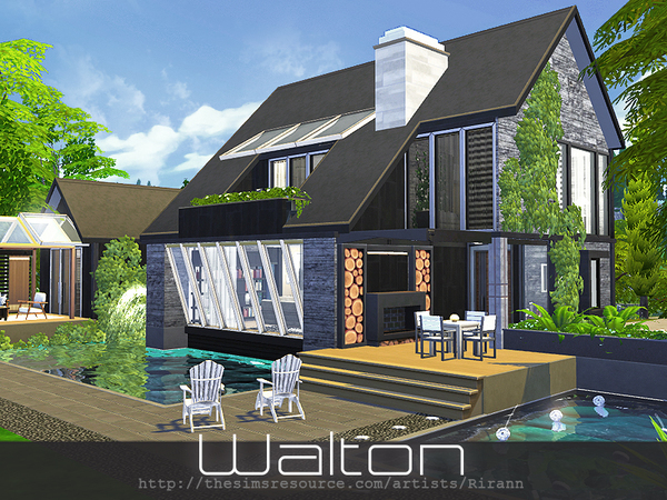 Sims 4 Walton house by Rirann at TSR
