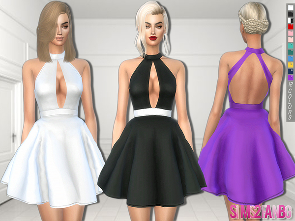 Sims 4 259 Fluffy mini dress by sims2fanbg at TSR