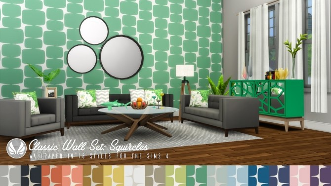Classic Wall Set Wallpaper dump 01 at Simsational Designs image 1228 670x377 Sims 4 Updates