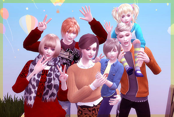 Sims 4 Family Pose 04 at A luckyday