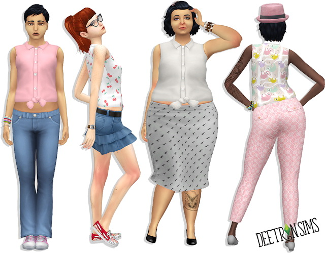 Sims 4 Pros N Convertibles Top at Deetron Sims