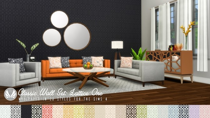 Classic Wall Set Wallpaper dump 01 at Simsational Designs image 1236 670x377 Sims 4 Updates