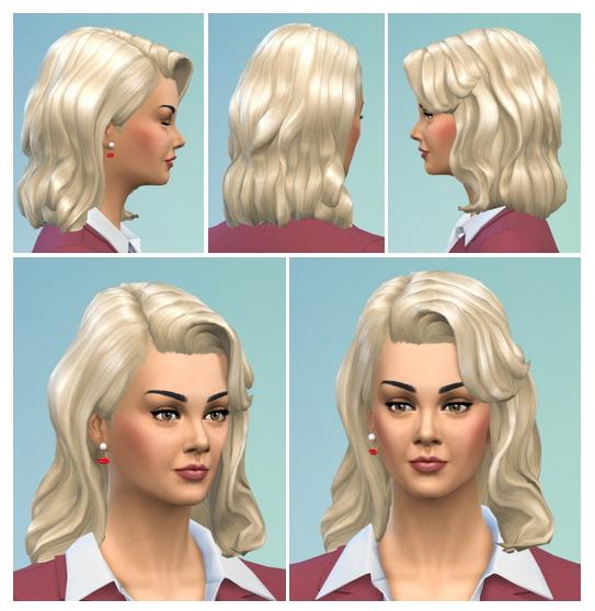 Sims 4 Retro Hair Longer at Birksches Sims Blog