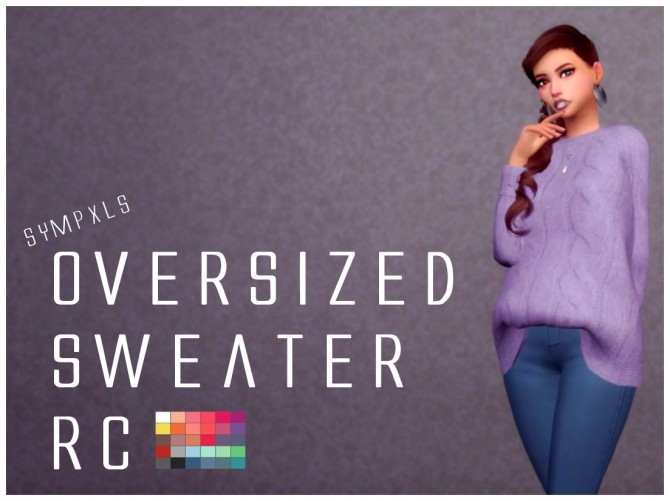 Sims 4 Oversized Sweater RC by Sympxls at SimsWorkshop