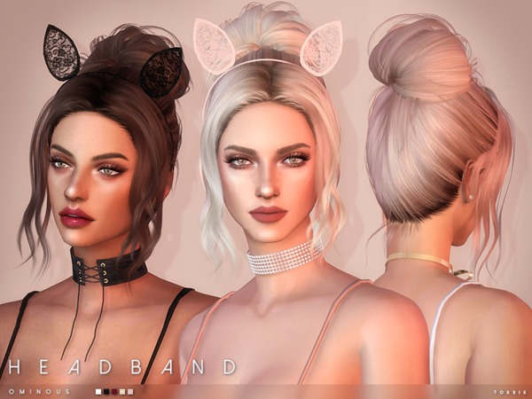 Ominous Headband by toksik at TSR image 1250 Sims 4 Updates