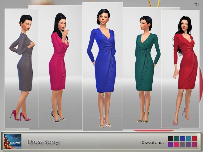 Sony Dress at Elfdor Sims image 12611 670x502 Sims 4 Updates