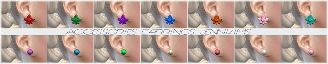 Sims 4 Base Game compatible Earrings Mix at Jenni Sims