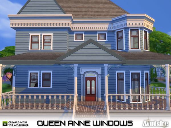 Sims 4 Queen Anne Windows by mutske at TSR