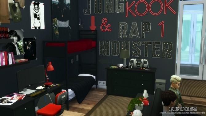 BTS Dorm (Bangtan Boys) at Homeless Sims image 1294 670x377 Sims 4 Updates